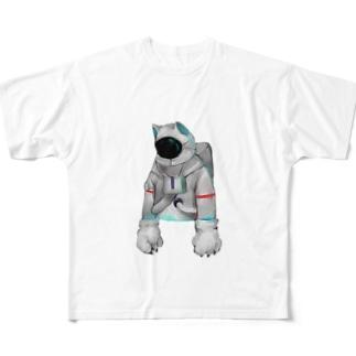 脱力宇宙猫 Full graphic T-shirts