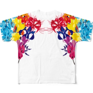 虹花 Full graphic T-shirts