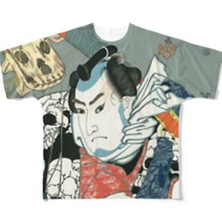 浮世絵 Full graphic T-shirts