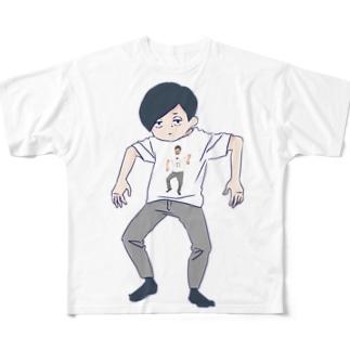 無気力すぎてとりこまれたT Full graphic T-shirts