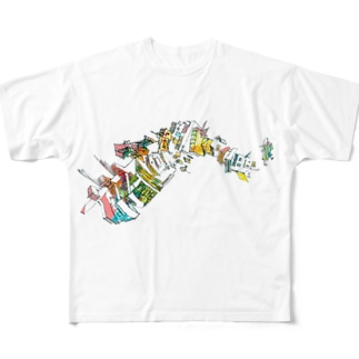 未来に Full graphic T-shirts