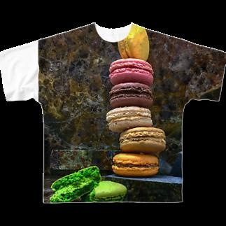 マカロン星人のマカロンタワー Full graphic T-shirts