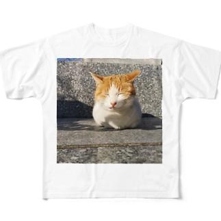 島の野良猫 Full graphic T-shirts