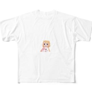 働いたら負け Full graphic T-shirts