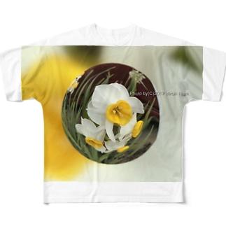 光景 sight735 水仙 花 FLOWERS  宙玉(そらたま) Full graphic T-shirts