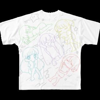 ざのNEMUMIQ Full graphic T-shirts