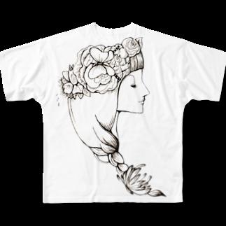 naomi yamaneのKaren Full graphic T-shirts