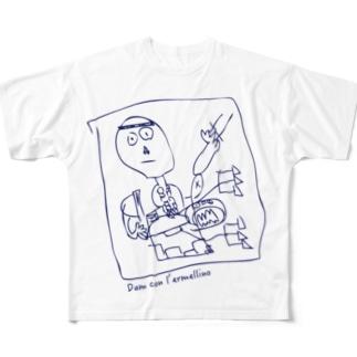 Dama con l'ermellino Full graphic T-shirts