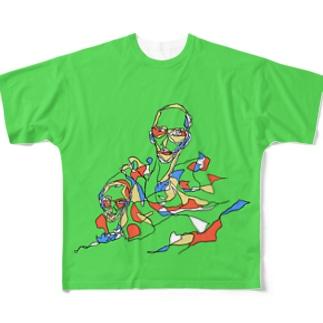おはじき Full graphic T-shirts