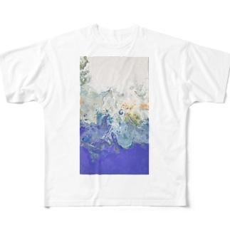 やわらか Full graphic T-shirts