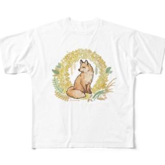 金木犀とキツネ Full graphic T-shirts