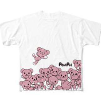 モモ増量中 Full graphic T-shirts