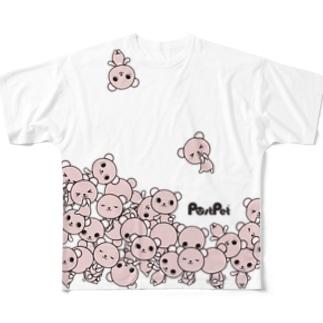 コモモ増量中 Full graphic T-shirts