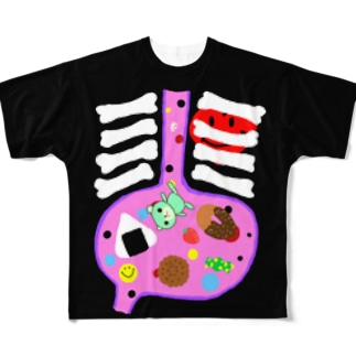 おなかいっぱい Full graphic T-shirts