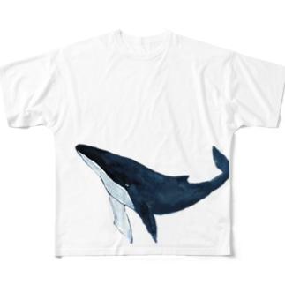 鯨 Full graphic T-shirts