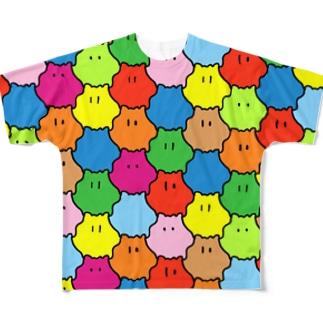 -if-レインボーめんだこフルグラフィックTシャツ Full graphic T-shirts