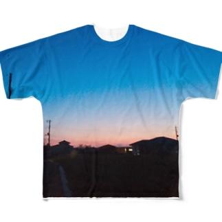 夕焼けが綺麗だったから Full graphic T-shirts