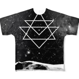 waffle_studio dark side moon Full graphic T-shirts