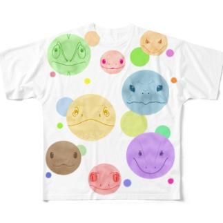 はちゅたま Full graphic T-shirts