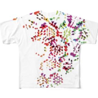 風流 Full graphic T-shirts