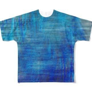 Blue Full Graphic T-Shirt