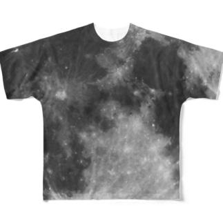 月の裏表 Full graphic T-shirts