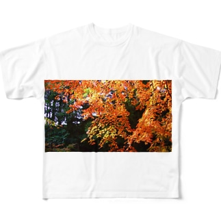 紅葉 Full graphic T-shirts