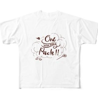 わんぱくワンパック! Full graphic T-shirts