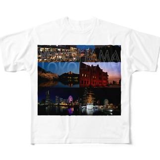 横浜夜景No.01 Full graphic T-shirts