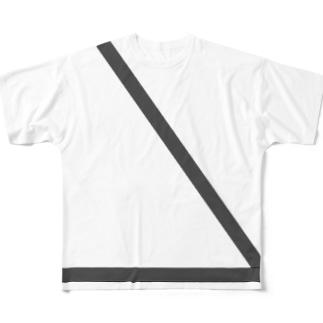 シートベルト右 Full graphic T-shirts