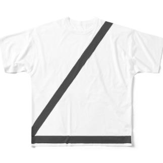 シートベルト左 Full graphic T-shirts