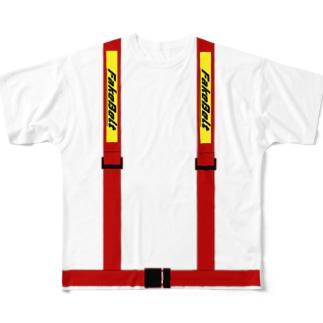 シートベルト4点 Full graphic T-shirts