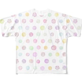 桃花ちゃん_ナゴコロゴ Full graphic T-shirts