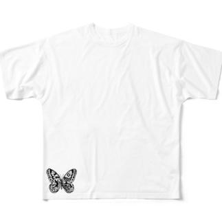 ロゴ小さめTee Full graphic T-shirts
