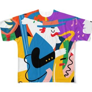 モダンでクールなジャズシンガー! Full graphic T-shirts