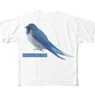 つばめ Full graphic T-shirts