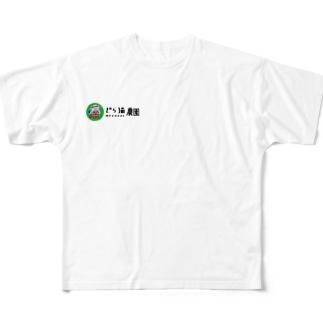 どら猫 Full graphic T-shirts
