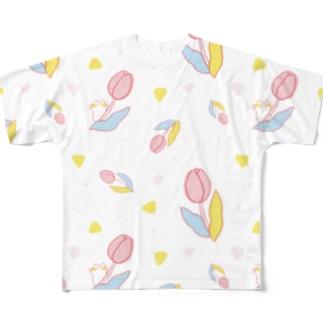 春が来た(ホワイト) Full graphic T-shirts