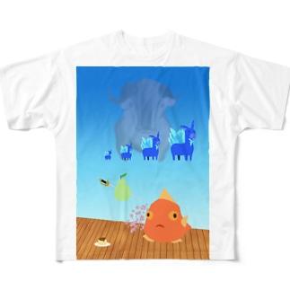 安堵 Full graphic T-shirts