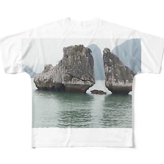 ハ・ロン湾 ベトナム Full graphic T-shirts