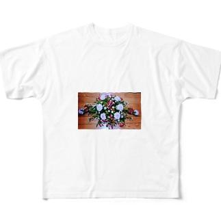 ソフィフラワー Full graphic T-shirts