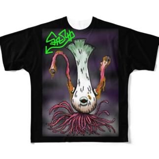 ダイオウネギ Full graphic T-shirts