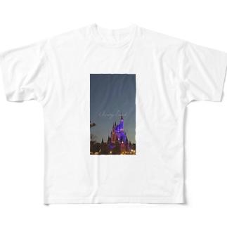 個人撮影シンデレラ城 Full graphic T-shirts