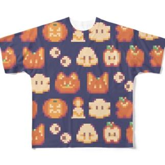 ドット絵ハロウィン All-Over Print T-Shirt