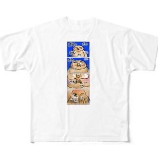 オノマトペイント No.002「ざわざわざわ」 Full graphic T-shirts