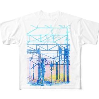 矢ヶ崎第一閉そく信号機(碓氷線) Full graphic T-shirts