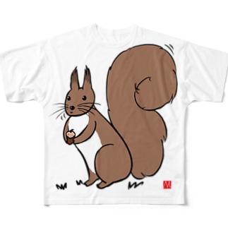 エゾリス Full graphic T-shirts