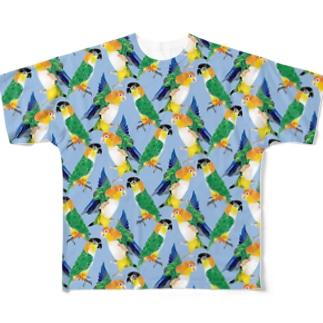 シロハラズグロシロハラTシャツ Full graphic T-shirts