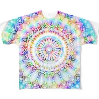 星の花かんむり Full graphic T-shirts