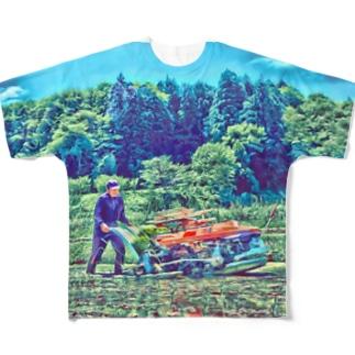 田植えする者 Full graphic T-shirts
